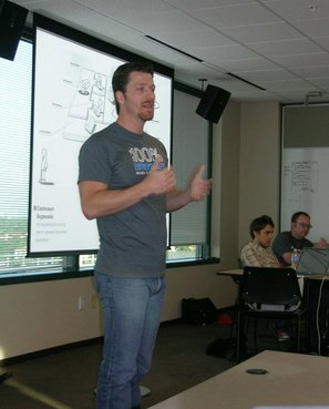 Startup Weekend Tampa: Joseph Warren speaks about Business Model Generation!